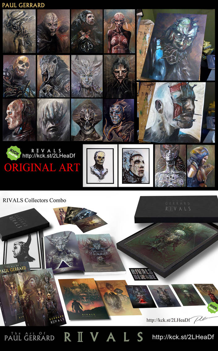 RIVALS. LIMITED EDITIONS AND ORIGINAL ART by Sallow