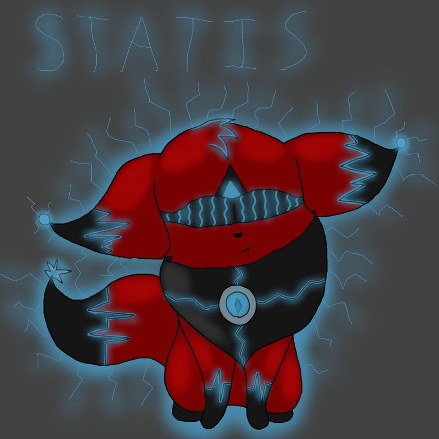 ~Static Crimson Eevee~ by SolarNex