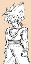 Goku Sketch by VGLR