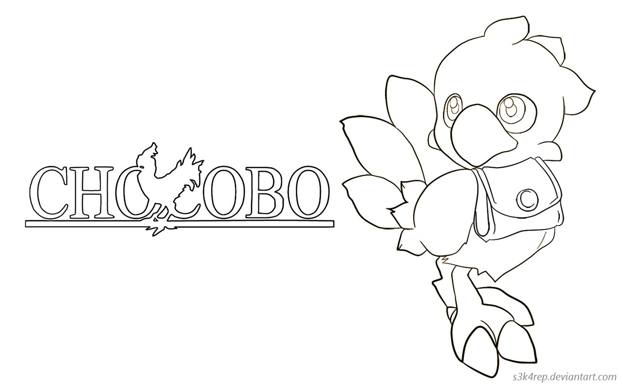 chocobo lineart concept by s3k4rep on deviantart