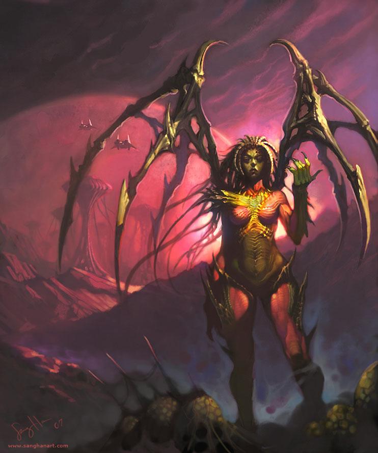 Sarah kerrigan by fluxen on deviantart - Starcraft 2 wallpaper art ...