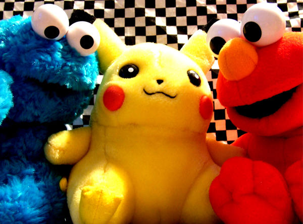 cookie monster pikachu elmo by chyanneypoo on DeviantArt