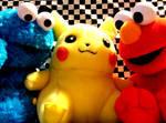 cookie monster pikachu elmo