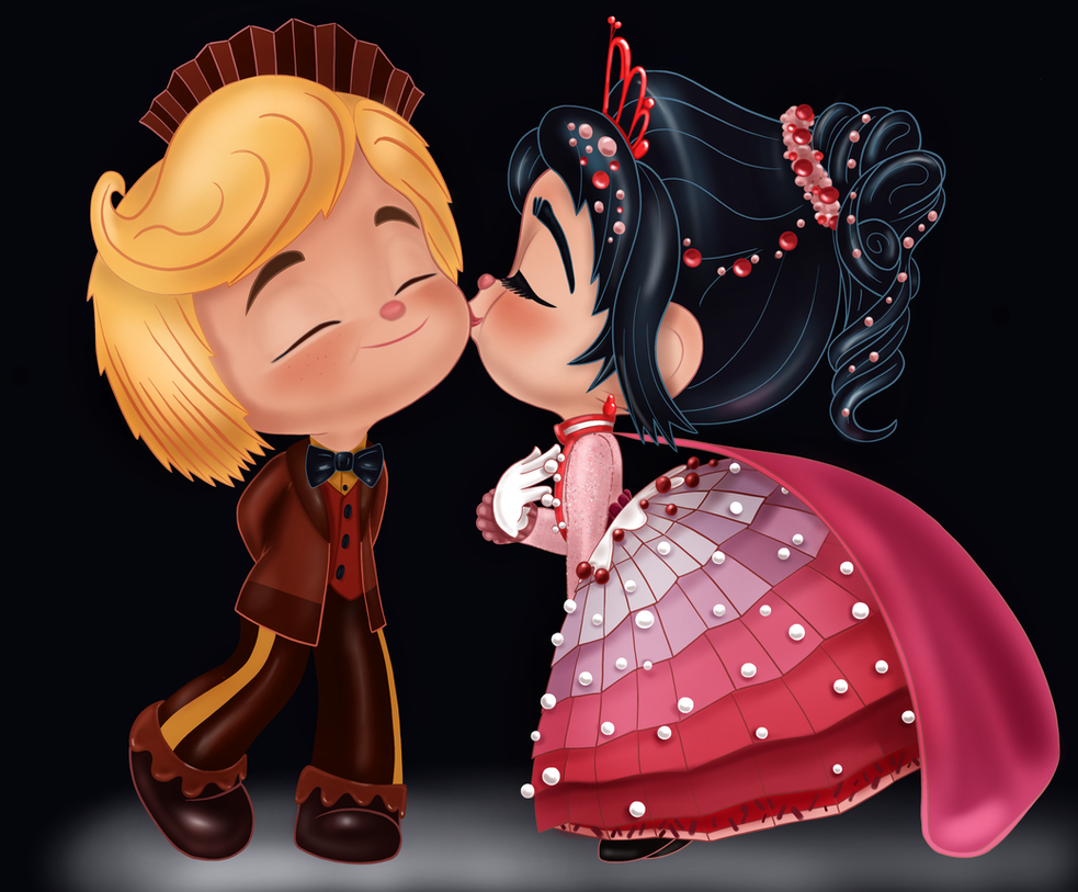 Vanellope and Rancis - Thanks for the Dances! by artistsncoffeeshops