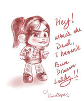 Vanellope - Hey! Have ya forgotten about me? by artistsncoffeeshops