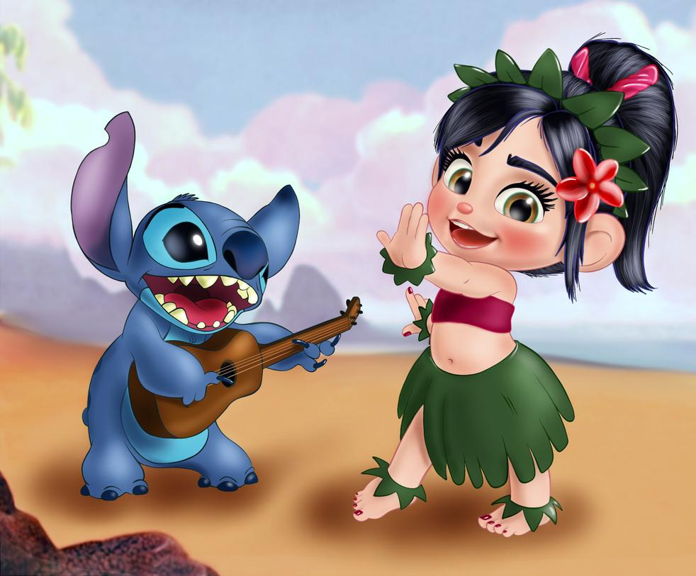 Vanellope and Stitch - Mele Inoa no Kalakaua by