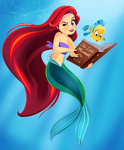 Ariel and Flounder - Story Time