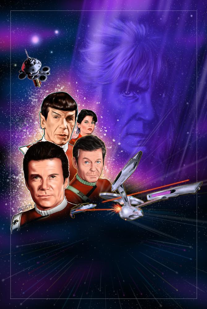 star trek ii the wrath of khan fan poster by majis76 on