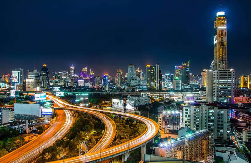Bangkok Cityscape by Rawangtak