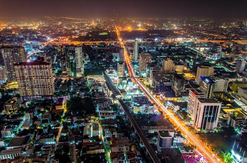 View from Baiyoke Sky Tower, Bangkok, Thailand by Rawangtak