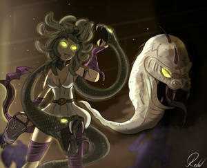 Commission: Skin concept, Medusa io