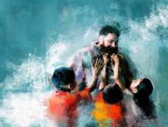 Nepal,kids,beard  by DANoobi