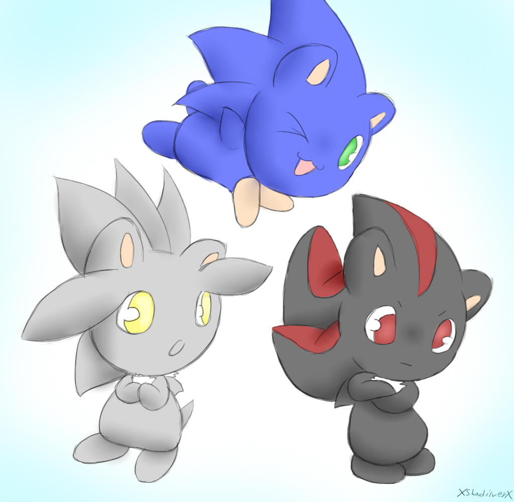 Sonic Shadow Silver - Chibi Party by xShadilverx