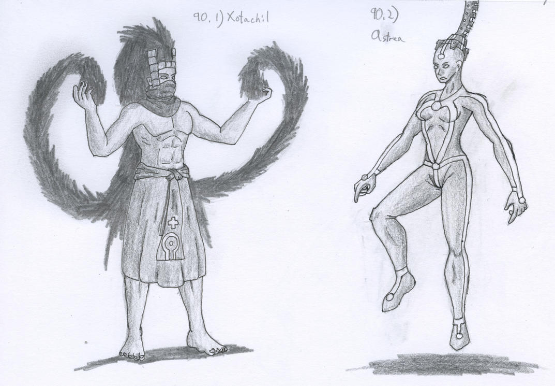 Figure 90 - Xotachil and Astrea by TheHiddenElephant