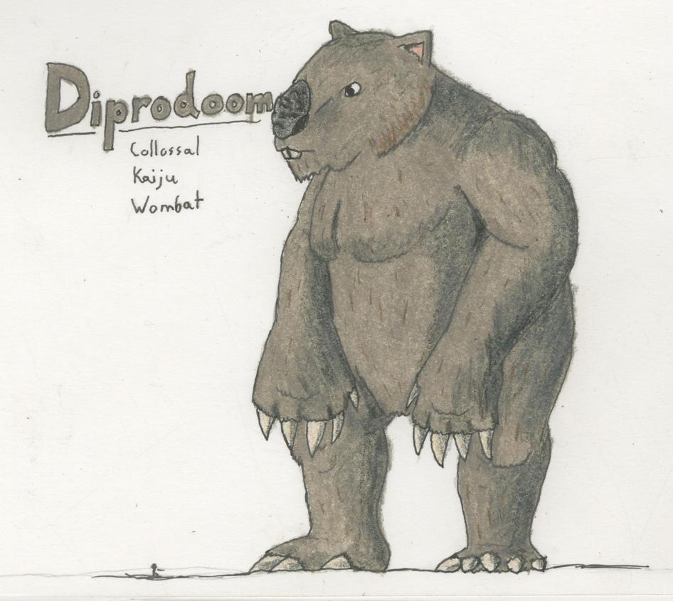 Diprodoom, Colossal Kaiju Wombat by TheHiddenElephant
