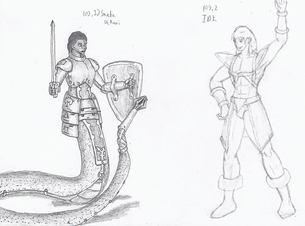 Figure 103 - Snake Ukair and IDK by TheHiddenElephant