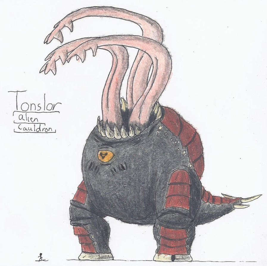 Tonslor, Alien Cauldron by TheHiddenElephant