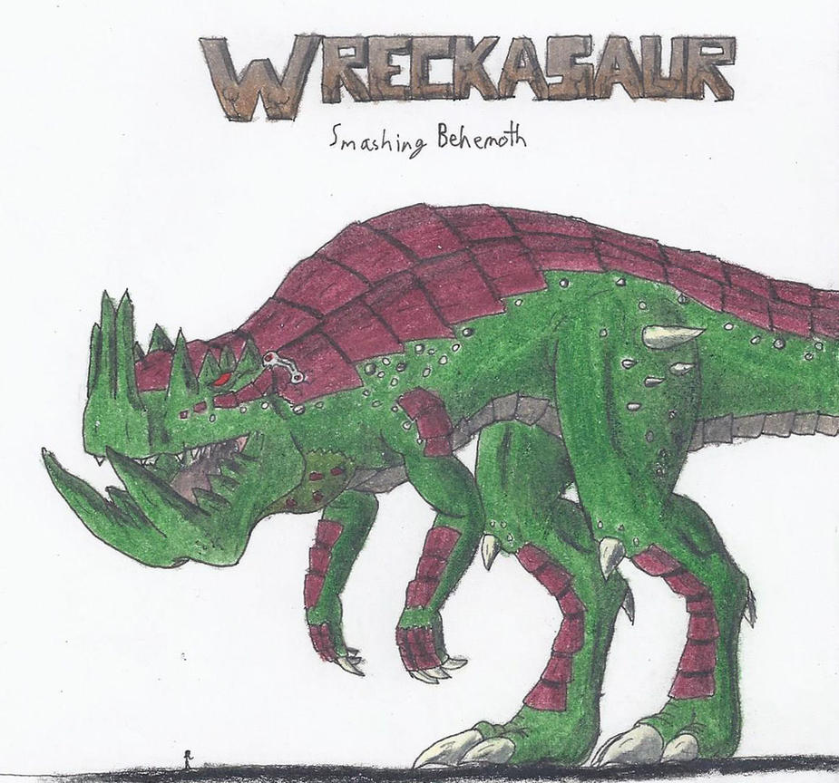 Wreckasaur, Smashing Behemoth by TheHiddenElephant