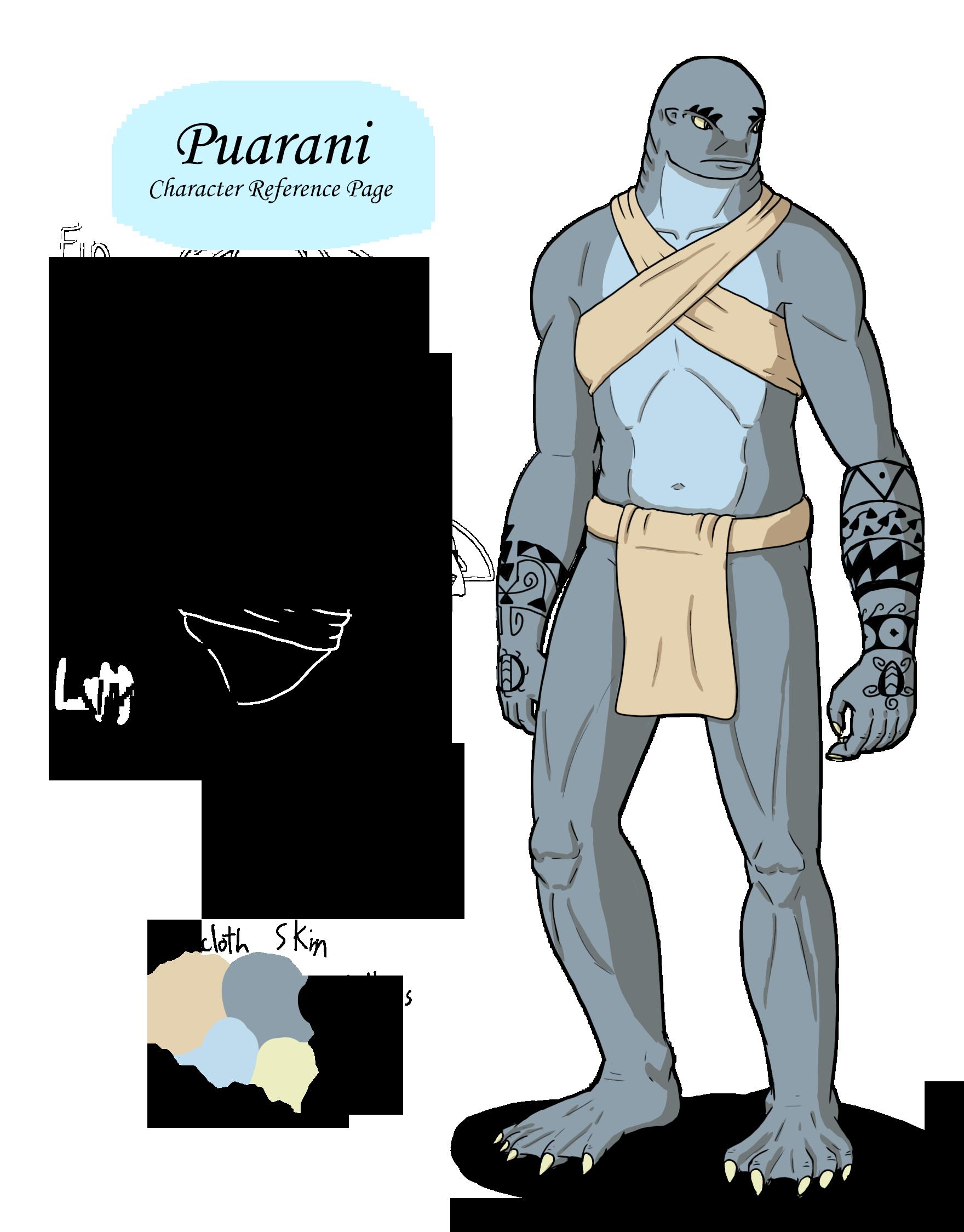 Puarani Character Reference Sheet