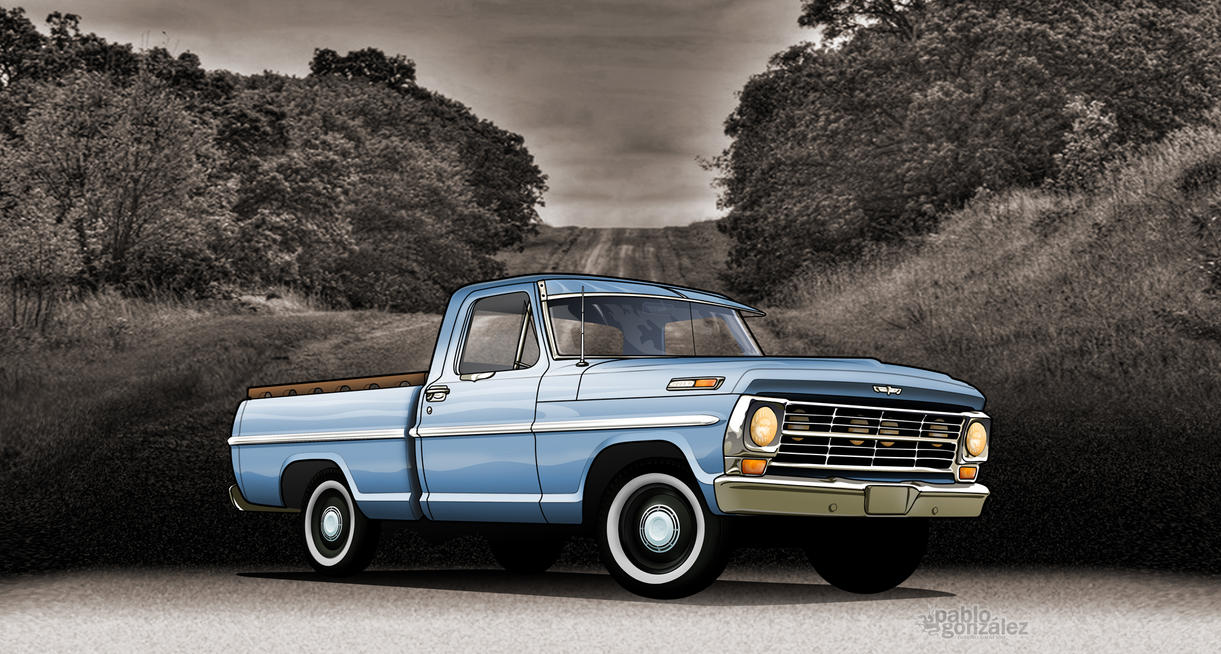 Old School 1970 Ford F100 Pick Up by vamphire on DeviantArt