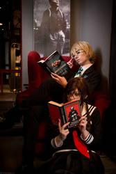 Togami Byakuya and Touko Fukawa by Linamohl