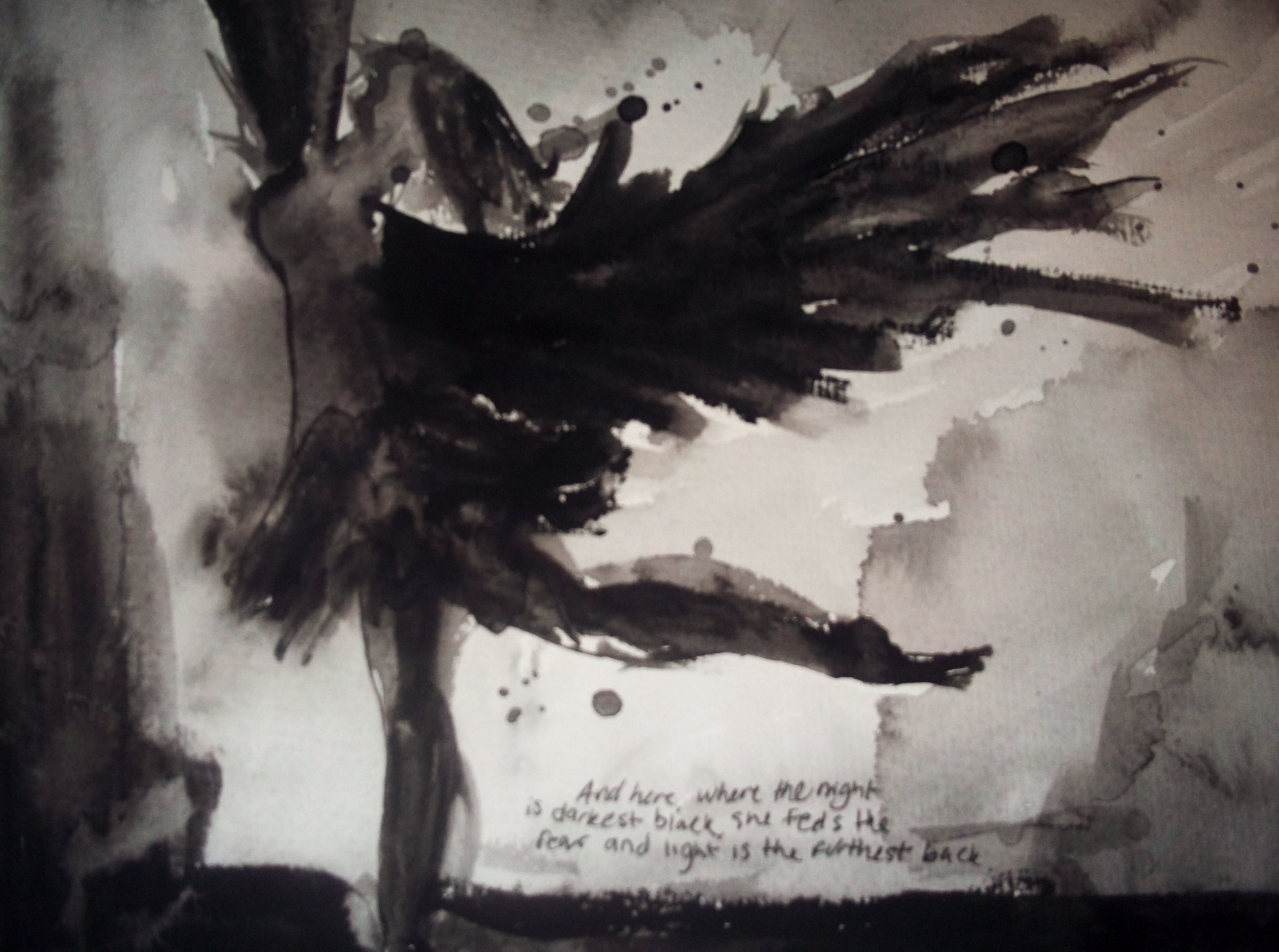 Watercolor. II (Black Swan) by interruptedgirl42