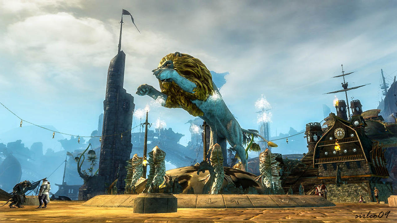 [GUILD WARS 2] Lion's Arch - Grand Piazza by SirLeo09