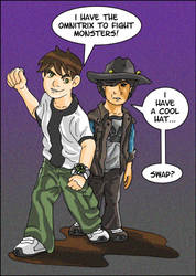 Ben 10 Meets Carl from The Walking Dead by SchoolSpirit