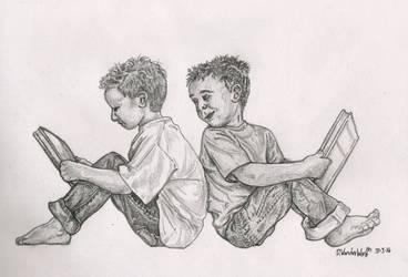 Boys Reading by SchoolSpirit