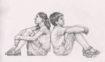 Kids-Sitting by SchoolSpirit