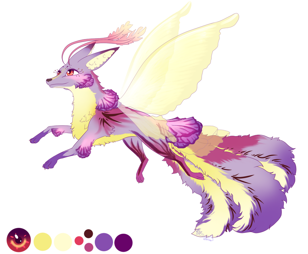 [Closed] Adoptable Kitsunegami for Easter by ZauriArt