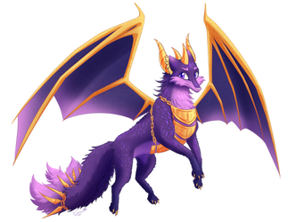 Amethi with wings [Commission] by ZauriArt