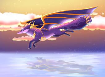 Amethi flying by ZauriArt