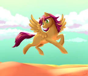 Sandy in the desert by ZauriArt