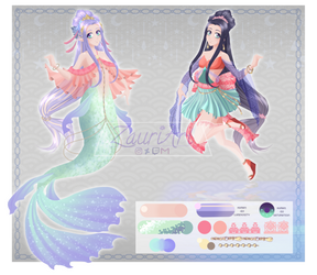 [ON HOLD] ADOPTABLE Mermaid with human version by ZauriArt
