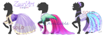 [OPEN n2][Adopts][Auctions] MLP Gala outfits by ZauriArt