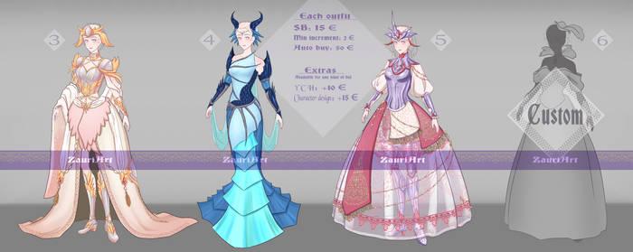 [Closed] Armored dresses - batch 01