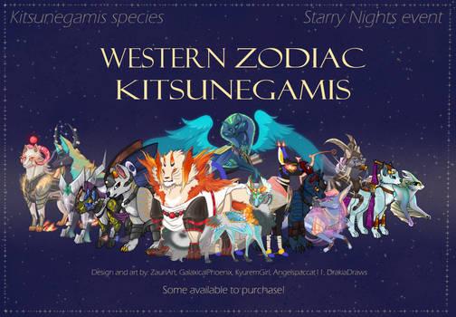 [OPEN] Zodiac adoptables [Kitsunegamis event]