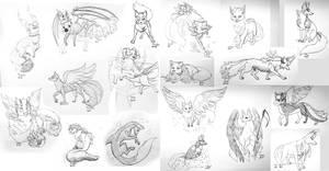 Kitsunegamis doodles