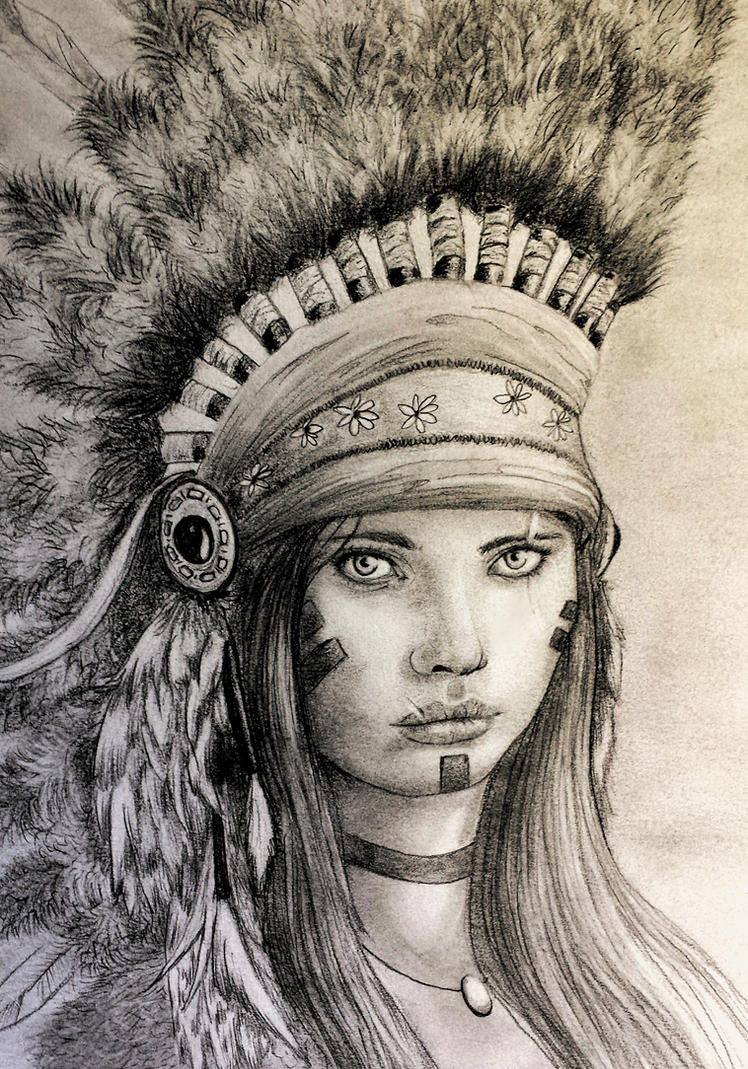 american native girl by juanma8585