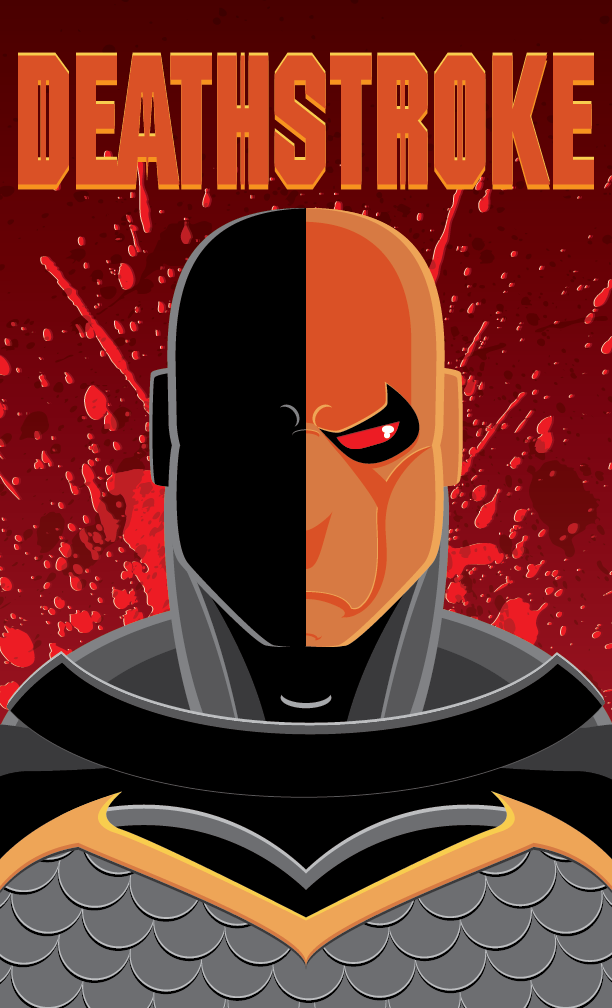 Deathstroke Portrait by Superheroics