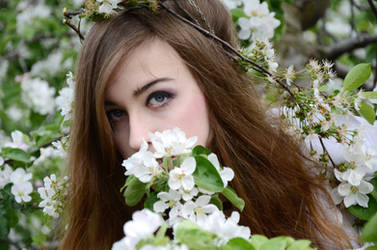 hair, flowers stock