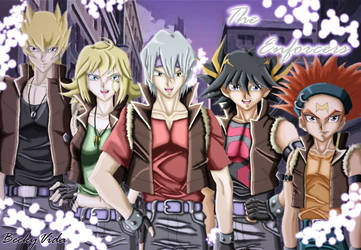 YGO 5ds - The Enforcers + OC - COLOURED by BeckyVida