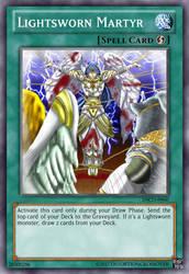 [Collab] YGO Custom Cards (2)- Lightsworn Martyr by BeckyVida