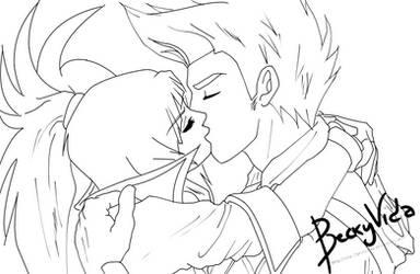 [Lineart] Virtual Hero - SakuraXRubius by BeckyVida