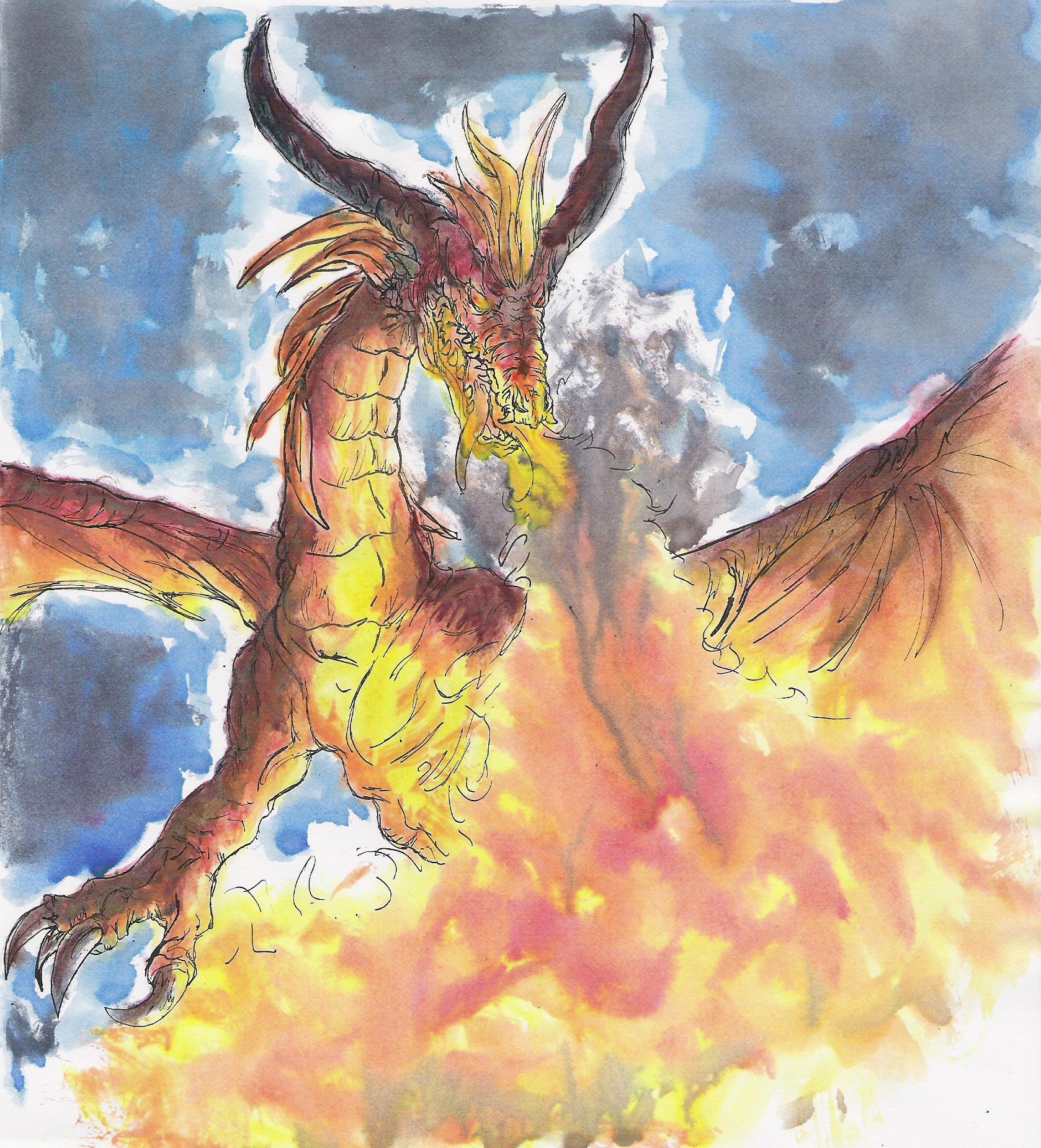 Angry dragon by noire arc en ciel on deviantart - Dragon arc en ciel ...