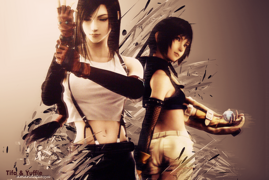 Tifa Lockhart and Yuffie Kisaragi Wallpaper by amandaluvsya