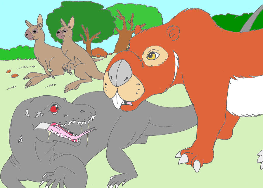 Megalania vs marsupial lion - photo#25