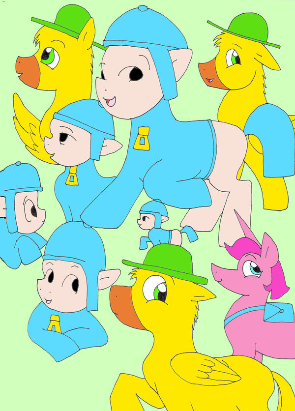 Pocoyo And Friends Coloring Pages