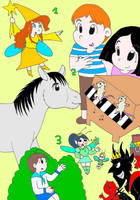Characters from my childhood books by AsmodeodeSinan